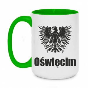 Two-toned mug 450ml Oswiecim