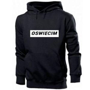 Męska bluza z kapturem City Oswiecim - PrintSalon