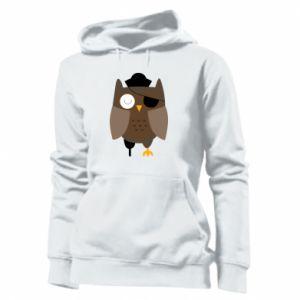 Women's hoodies Owl pirate - PrintSalon