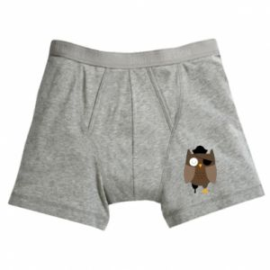 Boxer trunks Owl pirate