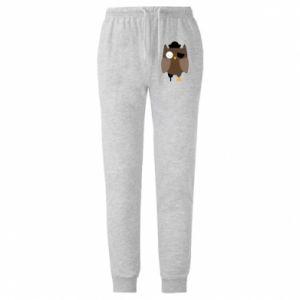 Męskie spodnie lekkie Owl pirate - PrintSalon