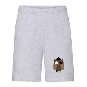Men's shorts Owl pirate - PrintSalon