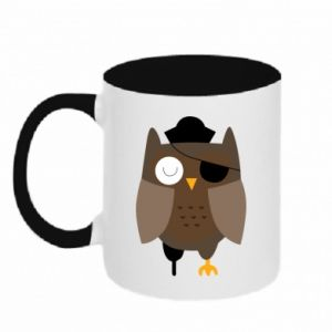 Two-toned mug Owl pirate