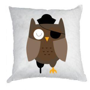 Pillow Owl pirate - PrintSalon