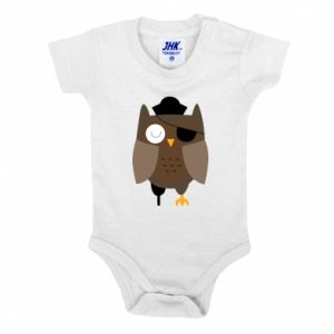 Baby bodysuit Owl pirate - PrintSalon