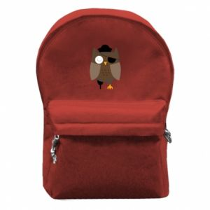 Backpack with front pocket Owl pirate - PrintSalon