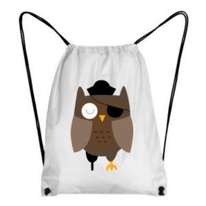 Backpack-bag Owl pirate - PrintSalon