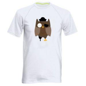 Men's sports t-shirt Owl pirate - PrintSalon