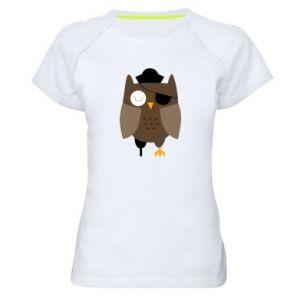 Women's sports t-shirt Owl pirate - PrintSalon