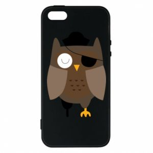 Phone case for iPhone 5/5S/SE Owl pirate - PrintSalon