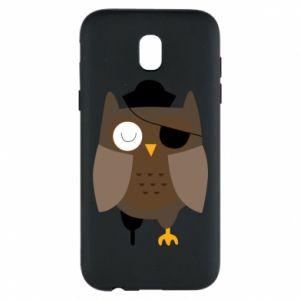 Phone case for Samsung J5 2017 Owl pirate - PrintSalon