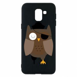 Phone case for Samsung J6 Owl pirate - PrintSalon