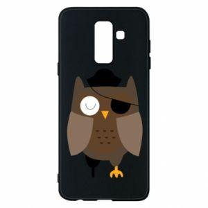Phone case for Samsung A6+ 2018 Owl pirate - PrintSalon