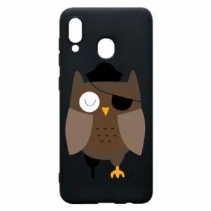 Phone case for Samsung A20 Owl pirate - PrintSalon