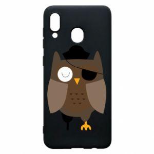 Phone case for Samsung A30 Owl pirate - PrintSalon