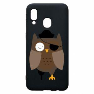 Phone case for Samsung A40 Owl pirate - PrintSalon