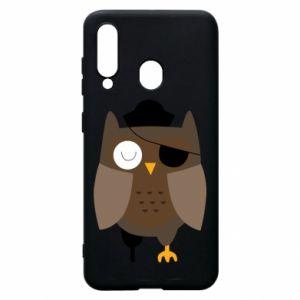 Phone case for Samsung A60 Owl pirate - PrintSalon