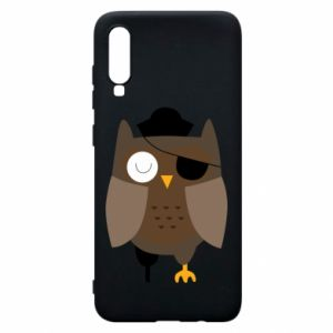 Phone case for Samsung A70 Owl pirate - PrintSalon
