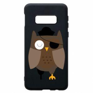 Phone case for Samsung S10e Owl pirate - PrintSalon