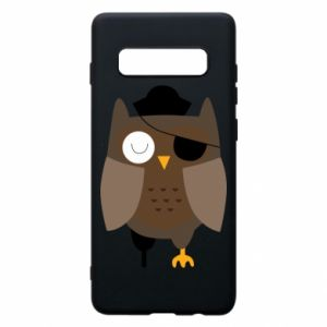 Phone case for Samsung S10+ Owl pirate - PrintSalon
