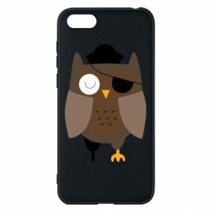 Phone case for Huawei Y5 2018 Owl pirate - PrintSalon