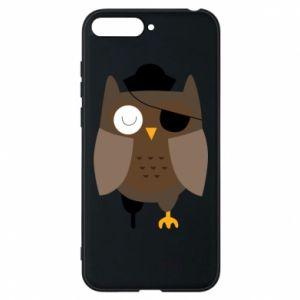 Phone case for Huawei Y6 2018 Owl pirate - PrintSalon