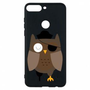 Phone case for Huawei Y7 Prime 2018 Owl pirate - PrintSalon