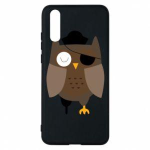 Phone case for Huawei P20 Owl pirate - PrintSalon