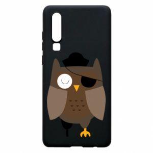 Phone case for Huawei P30 Owl pirate - PrintSalon