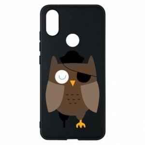 Phone case for Xiaomi Mi A2 Owl pirate - PrintSalon