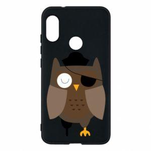 Phone case for Mi A2 Lite Owl pirate - PrintSalon