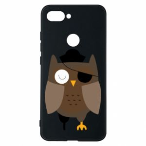 Phone case for Xiaomi Mi8 Lite Owl pirate - PrintSalon