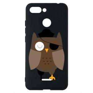 Phone case for Xiaomi Redmi 6 Owl pirate - PrintSalon