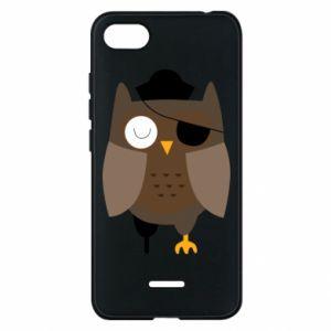 Phone case for Xiaomi Redmi 6A Owl pirate - PrintSalon