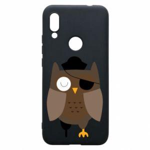 Phone case for Xiaomi Redmi 7 Owl pirate - PrintSalon