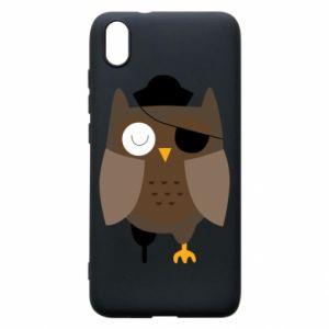 Phone case for Xiaomi Redmi 7A Owl pirate - PrintSalon