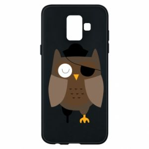 Phone case for Samsung A6 2018 Owl pirate - PrintSalon