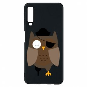 Phone case for Samsung A7 2018 Owl pirate - PrintSalon