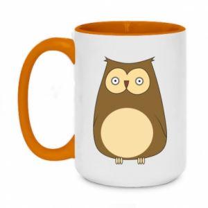 Kubek dwukolorowy 450ml Owl with big eyes