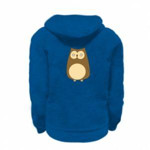 Bluza na zamek dziecięca Owl with big eyes