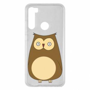 Etui na Xiaomi Redmi Note 8 Owl with big eyes