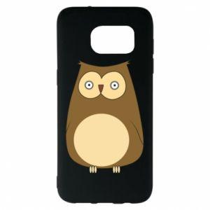 Etui na Samsung S7 EDGE Owl with big eyes