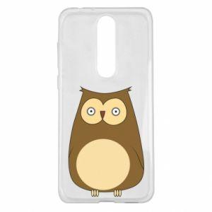 Etui na Nokia 5.1 Plus Owl with big eyes