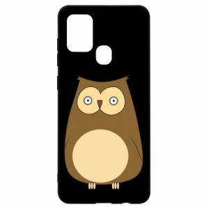 Etui na Samsung A21s Owl with big eyes