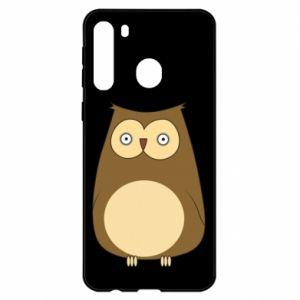 Etui na Samsung A21 Owl with big eyes