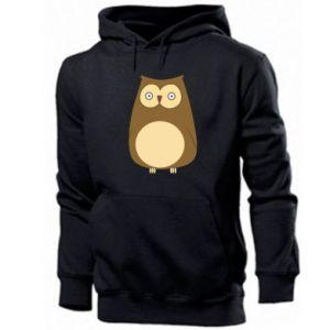 Men's hoodie Owl with big eyes