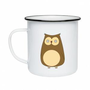 Kubek emaliowany Owl with big eyes