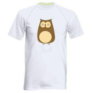 Koszulka sportowa męska Owl with big eyes
