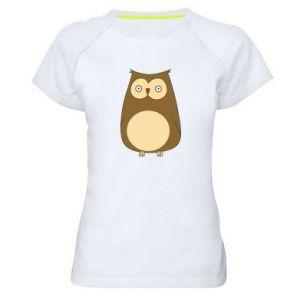 Koszulka sportowa damska Owl with big eyes
