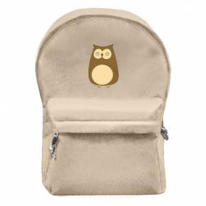 Plecak z przednią kieszenią Owl with big eyes